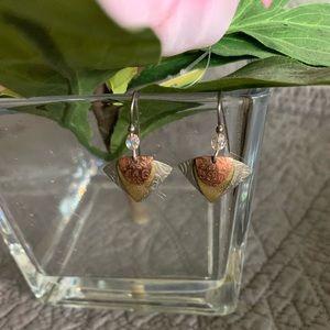 Tri-Color Pierced Earrings